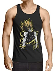 style3 Goku Pop-Art Power Débardeur Homme Tank Top