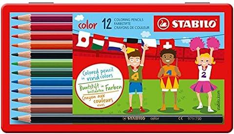 STABILO color - Boîte métal de 12 crayons de couleur