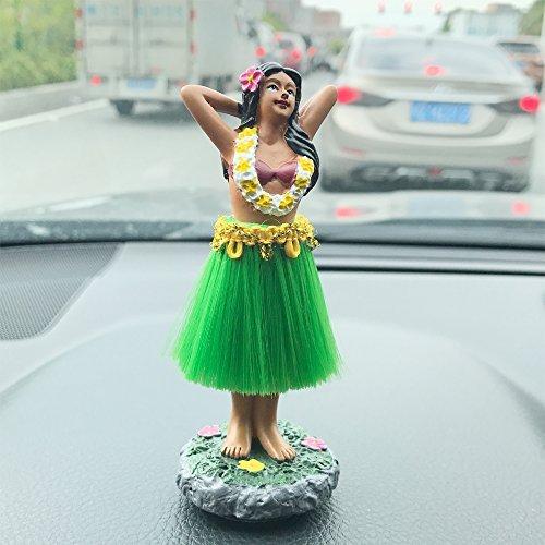 Mädchen, SMYER Posing Mini Armaturenbrett Puppe Grün Rock, Hawaiian Geschenke für Dekoration 4.5