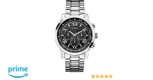b69e058bfd27 Guess - W0379G1 - Montre Homme - Quartz - Chronographe - Bracelet Acier  inoxydable Argent  Amazon.fr  Montres