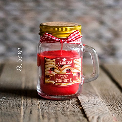 JJALZ Kerzen Tropische Frucht Serie Kerze Öl Duft Tasse Wachs In Dosen Wachs Dekorative Kunst,Cranberry Cup