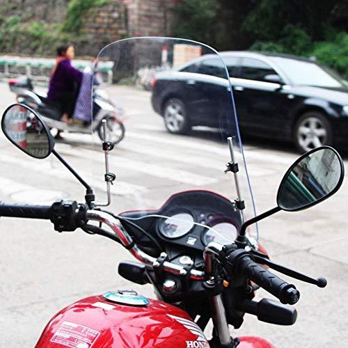 beautygoods windschutzschild Universelles Windschild Windschutzscheibe für Motorräder Elektrische Fahrzeuge, Bruchsicheres, winddichtes, kältefestes und hochtransparentes PC-Schild