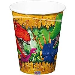 Dinosaurio Fiesta Taza, 6 Piezas