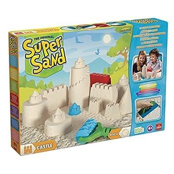Goliath 83219 - Super-sand-set Castle, Modellierbarer Magischer Sand Bringt Burgen Ins Kinderzimmer, Handliche Sandkasten-box, Bunte Burg-förmchen, Ab 4 Jahren 11