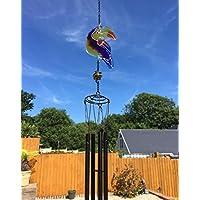 Hunky Dory Gifts Vidrieras Parroto Ave Exótica Colgante Suncatcher Mobile Garden Windchime