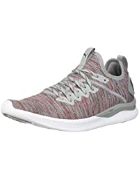 Puma - Ignite Flash Evoknit Schuhe für Herren, 40.5 EU, Quarry/High Risk Red/Asphalt