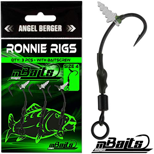 Angel-Berger Magic Baits Ronnie Rigs Pop Up Rig Boilierig 3 Stück Größe 4