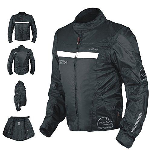 A-Pro a Oxford Giacca Uomo Tessile CE Gilet Termico Protezioni motociclo nero S