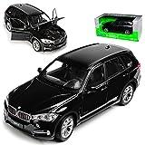 alles-meine.de GmbH BMW X5 F15 SUV Schwarz 3. Generation Ab 2013 1/24 Welly Modell Auto mit individiuellem Wunschkennzeichen