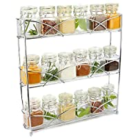 3 Tier Herb & Spice Rack Organiser | Free Standing Non-Slip Modern Design | Universal Design | Kitchen & Pantry Storage Solution | M&W