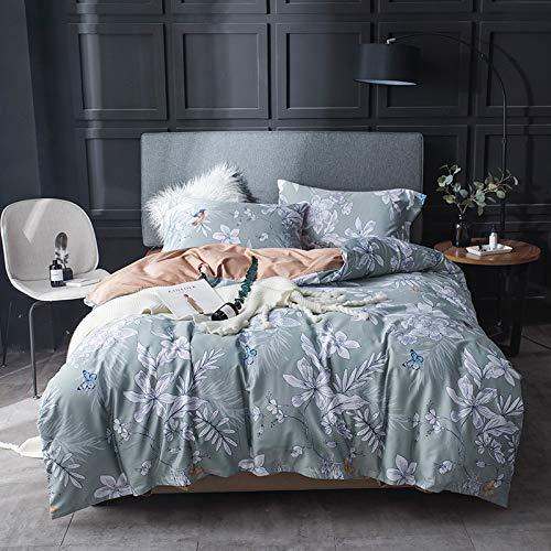 XULIM Bettwäschesatz von Vier 60 S Ägypten Baumwolle Bettwäsche Set Gedruckt bettbezug Bettlaken Kissenbezüge König größe 4 Stücke, König, 220 * 240 cm -