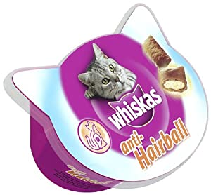Whiskas Anti Hairball Cat Treats 50 g (Pack of 8) from Mars Petcare Uk