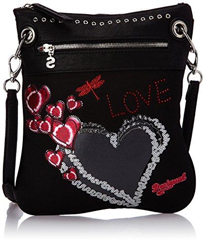 Desigual Bols Bando Heart Punk, Women's Bag, Black (2000 Negro), One Size