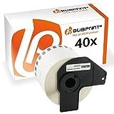40x Bubprint Endlos-Etikett kompatibel für Brother DK-22205 DK22205 DK 22205 p-touch QL 570 500 QL-500 QL-500BW Endlosetiketten Endlos-Etikettenlabels