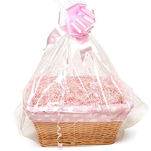 Homemade Baby Basket – Large Bolnhurst – Pink, Polka Dot