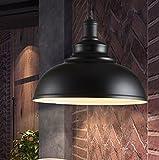 Industrielle Vintage Metall Pendelleuchte Hängeleuchte Φ 30cm für E27 Leuchtmittel Eisen Lampenschirm für Esszimmer, Wohnzimmer, Restaurant