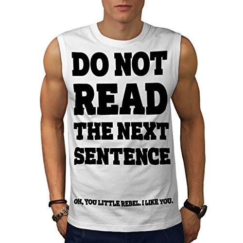 Machen nicht lesen Zitat Komisch Haltung Männer XXL Ärmelloses T-Shirt | Wellcoda (Haltung Ärmellos)