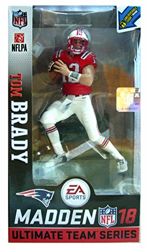 McFarlane Madden NFL 18 Tom Brady New England Patriots Action Figur CLASSIC RED