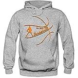 Shirt Happenz EatSleepPlay #1 Hoodie |Basketball Hoodies | Team | USA | Kapuzenpullover, Farbe:Graumeliert (Greymelange F421);Größe:M
