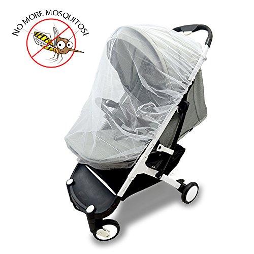 Insektenschutz für Kinderwagen, Vitutech Universal Insektenschutz Baby Moskito Netz Universal-Moskito-Netz Insektenschutz für Kinderwagen und Babywiegen Reisebett