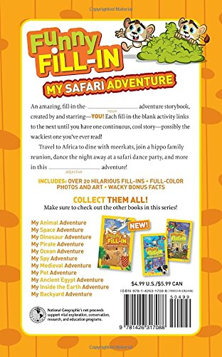Funny Fill-In: My Safari Adventure (National Geographic Kids Funny Fill-in)