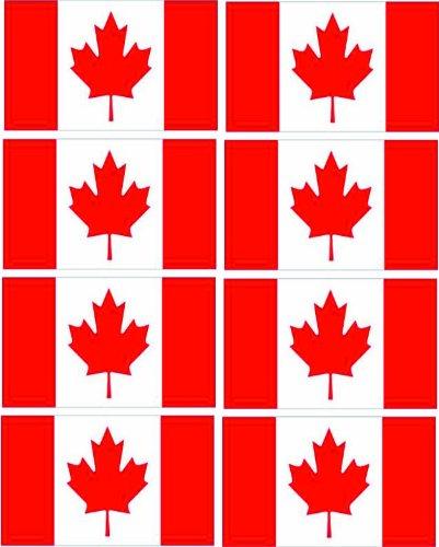 Kanadische Flagge Auto-Aufkleber, klein, 8 Stück -