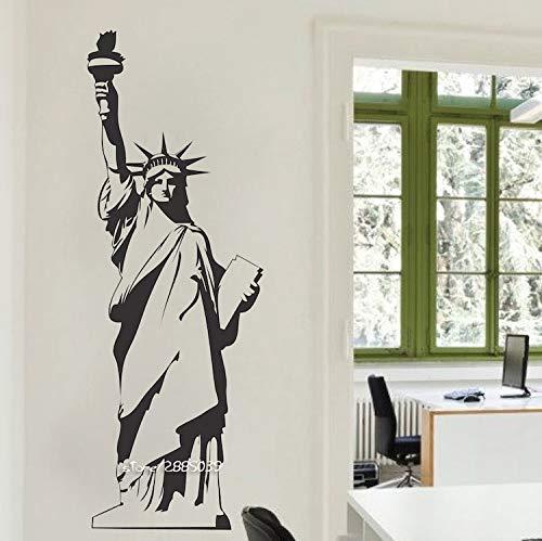 l Wandaufkleber New York Wahrzeichen Wandkunst Zimmer Aufkleber Tür Fenster Schablonen Wandbild Decor 23x58 cm ()