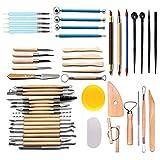 51 pezzi ceramica argilla raschietto argilla scolpire modellazione strumenti di scultura strumenti