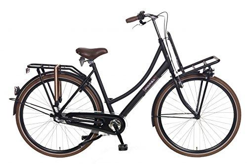 28 Zoll Popal County+ 2845 Damen Holland Fahrrad 3 Gang, Farbe:schwarz