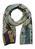 beybey weicher Damen Schal mit Kunstdruck XXL Tuch Kunst Stola warmer Modeschal mit Cashmere (grau)