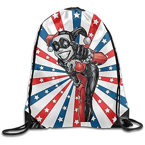 Canace Harley Quinn deportes al aire libre cordón bolsas mochila, Blanco, talla única