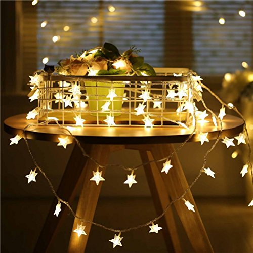 GUOPENGFEI Sterne Lichterketten LED Batteriebetriebenes Licht Party Garten Weihnachten Halloween Urlaub Hochzeit Dekoration Indoor Outdoor Warmweiß Energieklasse A ++, 3m (Outdoor-halloween-dekoration)