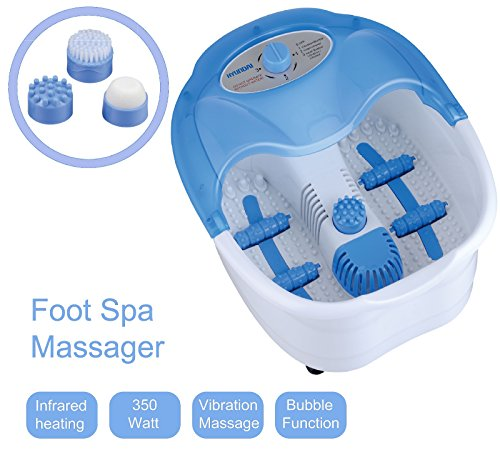 Hyundai HY-300 Fußmassagegerät | Fußsprudelbad | mit Aufheizfunktion & Warmhaltefunktion | Infrarotwärme | Foot-Spa | 4 Fuß-Reflexzonenmassage | Whirlpool-Effekt | 350 Watt |