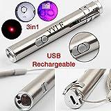 3en 1500LM Mini aluminio USB recargable LED UV Taschenlampe Pen multifuncional lámpara
