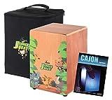 XDrum Jungle Beat Cajon Enfants SET incl. Housse, livre, téléchargez les liens pour l