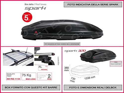 box-portatutto-auto-in-kit-spark-320-lt-1338-x-730-x-360-compreso-barre-portatutto-portapacchi-ford-