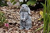Steinfigur Hase Kaninchen Widder Balduin , frost- und wetterfest bis -30°C, massiver Steinguss