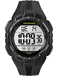 Timex Marathon Men's TW5K94800 Watch with LCD Dial Digital Display and Black Resin Strap