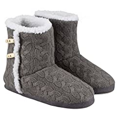 Idea Regalo - Berydale pantofole a stivaletto donna, Grigio (Grau), 39 EU