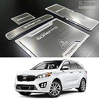 Patrón de aluminio bloque de dos taza soporte consola placa accesorios 4P para Kia Sorento 2016