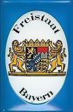 Freistaat Bayern Blechschild Schild Blech Metall Metal Tin Sign 20 x 30 cm