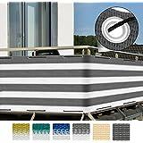 Sol Royal SolVision Protección visual balcones y terrazas 500x90 cm Resistente a los rayos UVA y viento Gris blanco