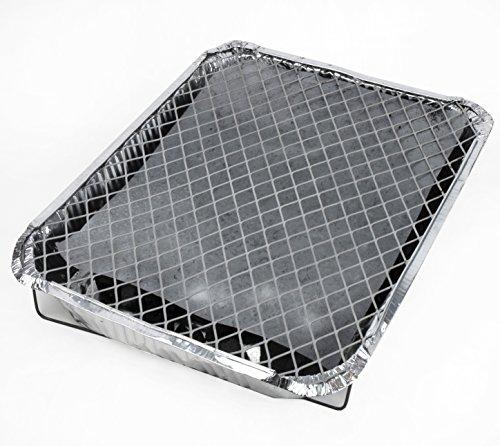 5105jRYmWBL - Mr. BBQ Einweg-Grill, Handliche Einweg-Grills mit Kohle und Anzünder, Picknick Grill