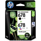 HP 678 Combo Pack - Black & Tricolor Ink Cartridge