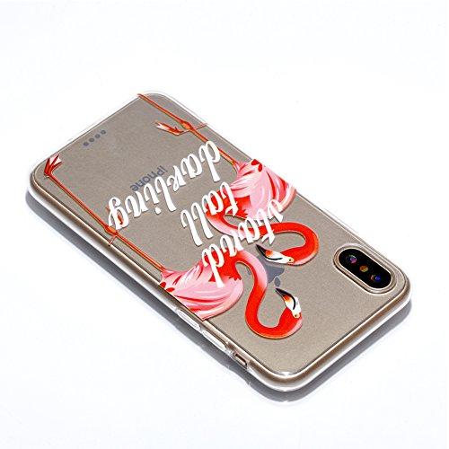 Slynmax Crystal Clear TPU Cover per iPhone X Custodia Silicone Caso Molle di Morbida Sottile Gel Transparent Bumper Case Protettiva Caso Chiaro Copertura Slim Thin Skin Shell Protezione per iPhone X S Modello #16