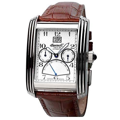 Ingersoll Herren-Armbanduhr XL Shenandoah AnalogAutomatik Leder IN8203WH