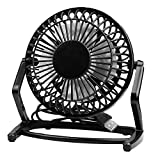 USB fan, innislink USB desktop fan with 360 Degree Rotation and Adjustable Angle Perfect for Desktop PC, Laptop, DC, NetBook, Computer and MacBook-Mini Cooling Fan, black
