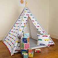 Children's Teepee - Vintage Cars - Designed, Printed & Handmade in the UK