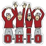 Victory Postcards NCAA Ohio State Buckeyes Buchstaben Menschen Auto-Magnet, 15,2x 14,6cm Scarlet
