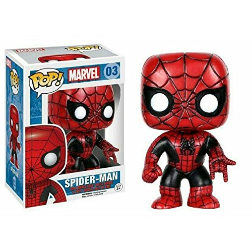 Funko 024795 Pop Marvel: Spider-Man Red and Black Limited 03 Bobble-Head Figure (Red Head Figur)